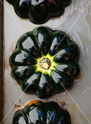 Roasted Acorn Squash on a Sheet Pan