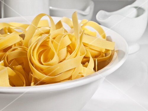 A bowl of tagliatelle