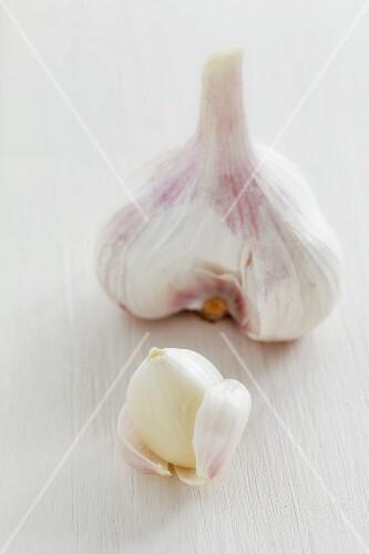 Garlic bulb and clove