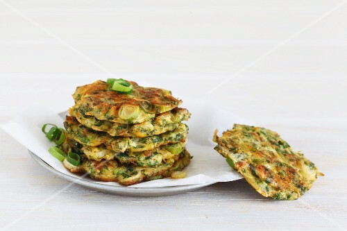 A stack of courgettes cakes