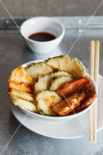 Vegetable tempura with soy sauce (Japan)