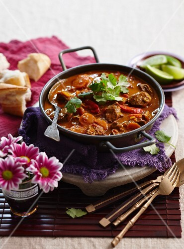 Beef curry with carrots and chilli (Vietnam)