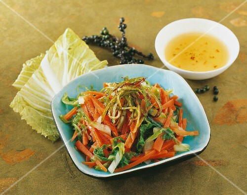 Carrot salad with Chinese cabbage (Korea)