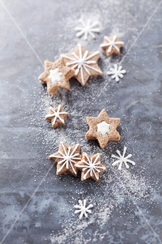 Christmas cookies, cinnamon stars
