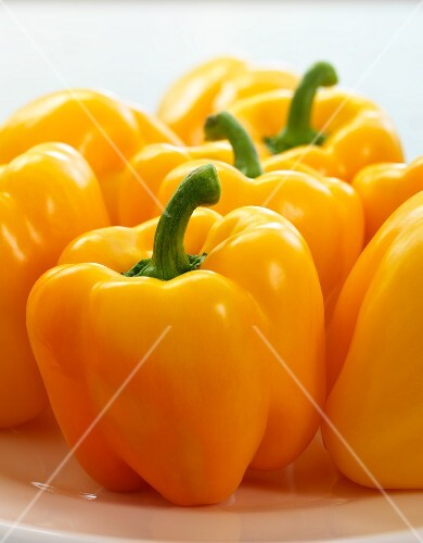 Several yellow peppers