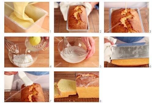 Zitronenkuchen glasieren