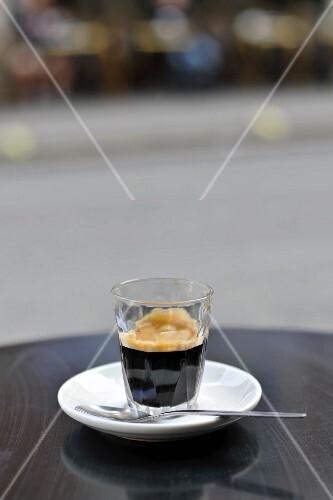 Espresso in glass
