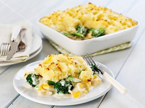 Fish pie with broccoli