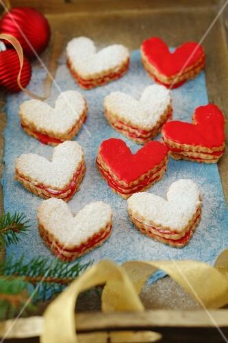 Glasur Weihnachtsplätzchen.Herzförmige Weihnachtsplätzchen Mit Bilder Kaufen 11141987