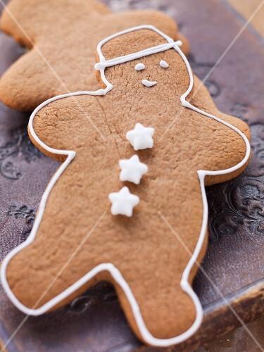 A gingerbread man