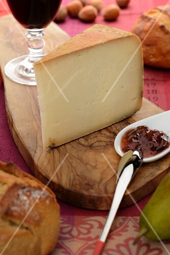 A piece of French sheep's cheese