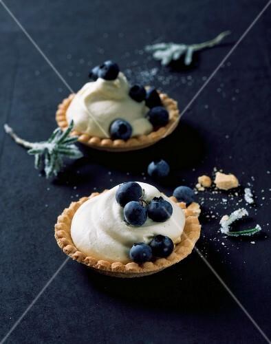 Shortbread blueberry tartlets