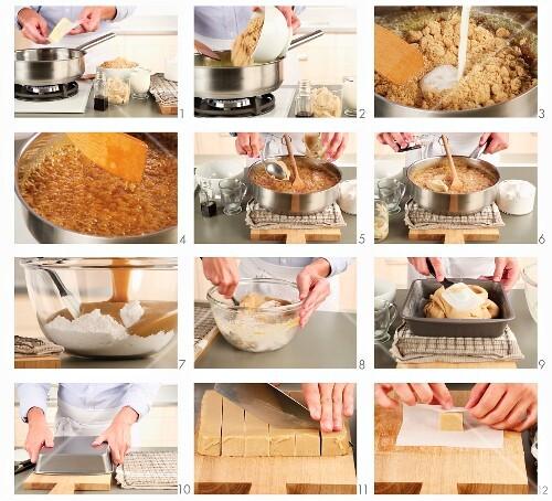 Erdnussbutter-Fudge zubereiten