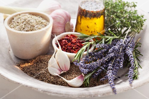 Herbs and spices for spice oil