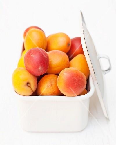 Fresh Peaches on Black Background