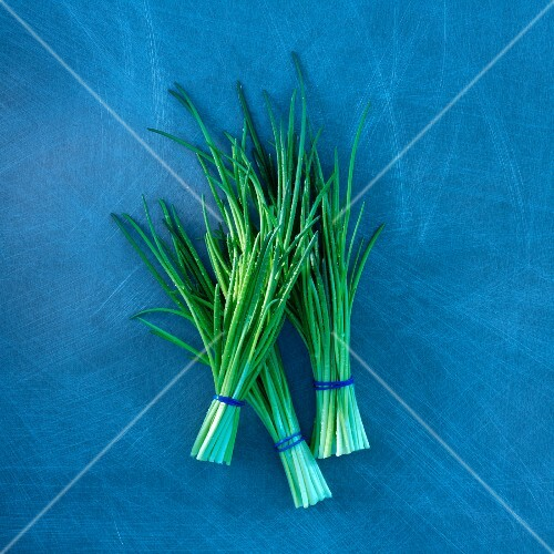 Three bunches of chives