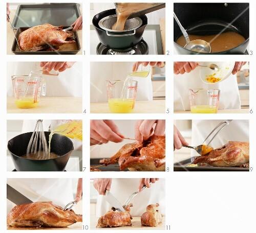 Ente a l'Orange zubereiten
