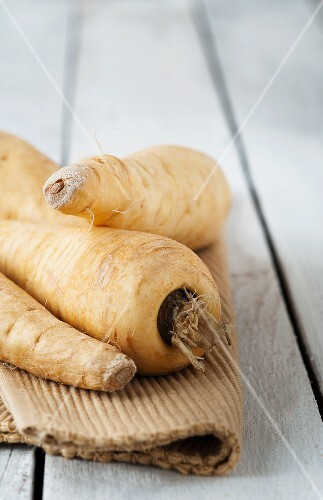 Parsnips on a placemat