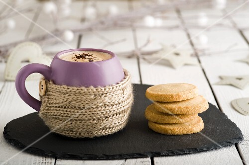 Hot chocolate and Christmas biscuits