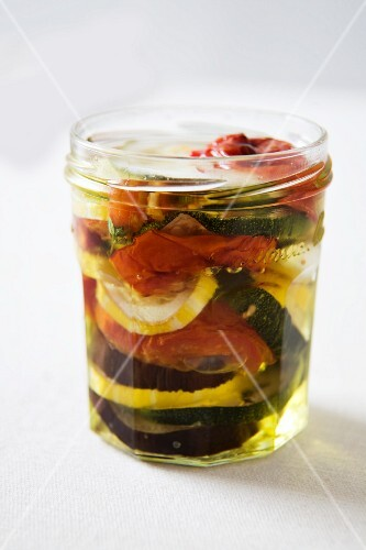A Jar of Marinated Vegetables
