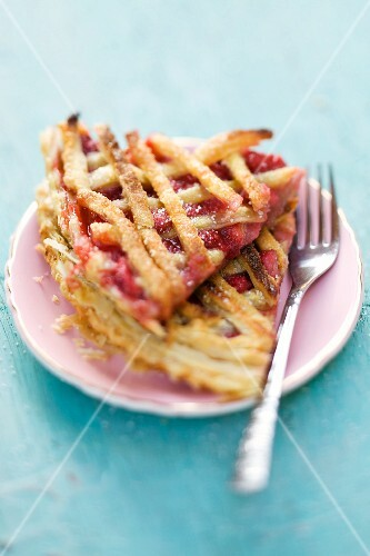 Strawberry pie on a plate