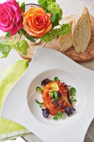Melanzane alla parmigiana (Italian aubergine bake)
