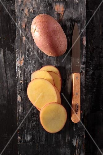 Red-skinned potatoes