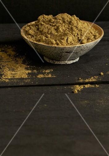 A bowl of hemp flour
