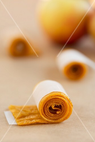 Fruit leather made from apple juice