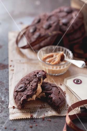 Chocolate Chip Cookies mit Erdnussbutter