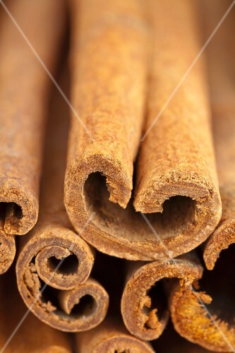 Several cinnamon sticks