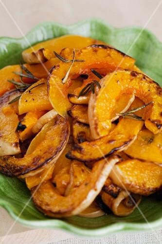 Roasted pumpkin wedges