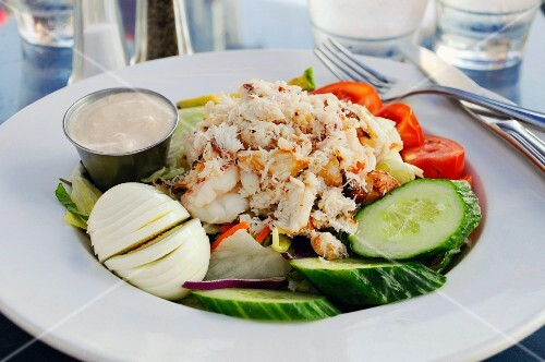 Crab and egg salad