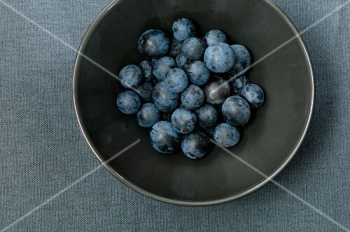 Sloes in a bowl