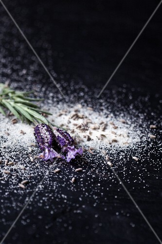 Lavender sugar (close-up)