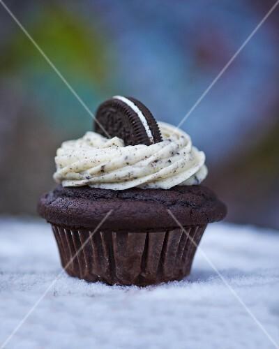 An Oreo cupcake