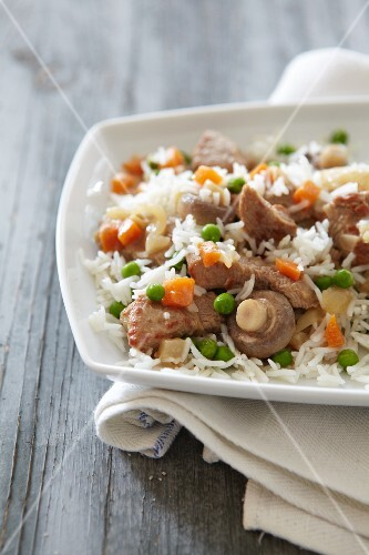 Veal fricassee with rice
