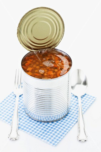 Lentils in a can