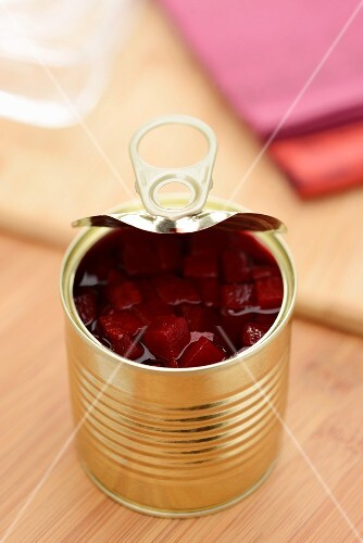 Beetroot in a tin