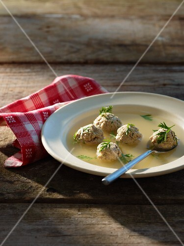 Broth with veal dumplings