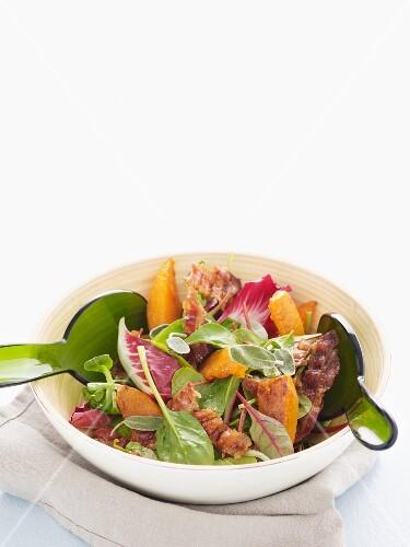 Pumpkin and bacon salad