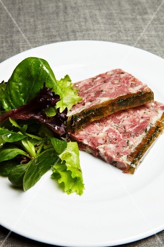 Head cheese with a green salad