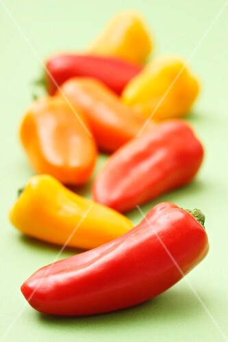 Colorful mini-peppers