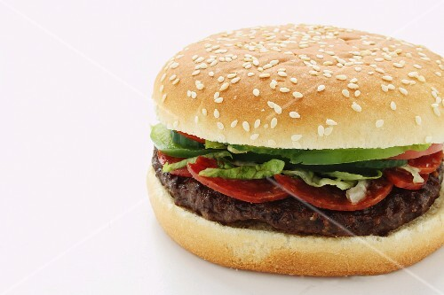 Hamburger with pepperoni