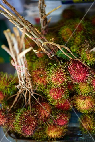 Bunches of rambutan