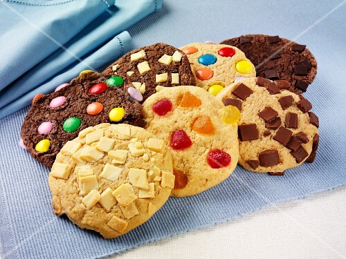 Colorfully decorated cookies