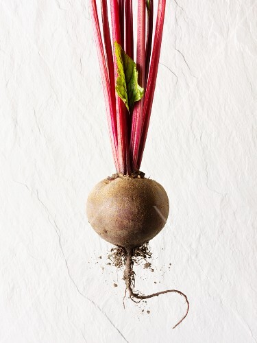A red beet tuber