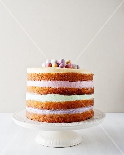 Cake with springtime decorations