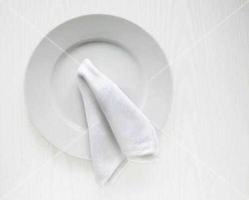 Plate and serviette