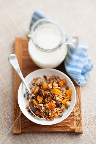 Muesli with milk